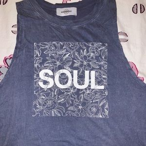 SoulCycle Floral Mineral Wash Tank